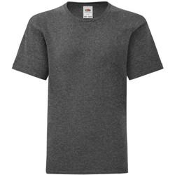 Vêtements Garçon T-shirts manches courtes Fruit Of The Loom Iconic Gris foncé chiné