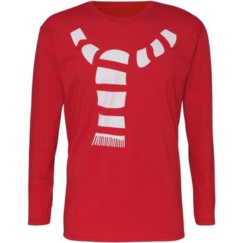 Vêtements Homme T-shirts manches longues Christmas Shop CJ205 Rouge
