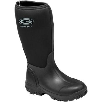 Chaussures Femme Bottes de pluie Grubs Boots  Noir