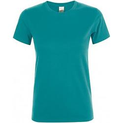 Vêtements Femme T-shirts manches courtes Sols Regent Bleu canard
