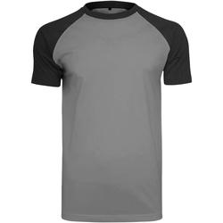 Vêtements Homme T-shirts manches courtes Build Your Brand Contrast Gris foncé/Noir