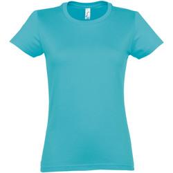 Vêtements Femme T-shirts manches courtes Sols Imperial Bleu clair