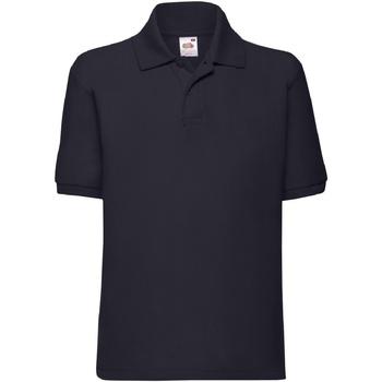 Vêtements Garçon Polos manches courtes Fruit Of The Loom 63417 Bleu marine profond