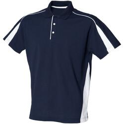 Vêtements Homme Polos manches courtes Finden & Hales LV390 Bleu marine/Blanc