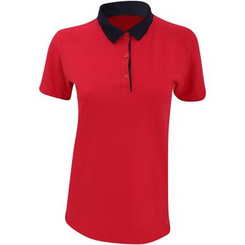 Vêtements Femme Polos manches courtes Anvil Pique Rouge/Bleu marine