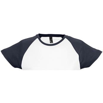 Vêtements Femme T-shirts manches courtes Sols Milky Blanc/Bleu marine