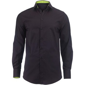 Vêtements Homme Chemises manches longues Alexandra Hospitality Noir/Vert citron
