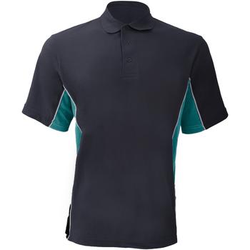 Vêtements Homme Polos manches courtes Gamegear Pique Bleu marine/Turquoise