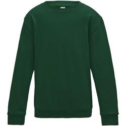 Vêtements Enfant Sweats Awdis JH30J Vert bouteille