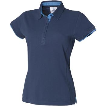 Vêtements Femme Polos manches courtes Front Row Contrast Bleu marine/Marine