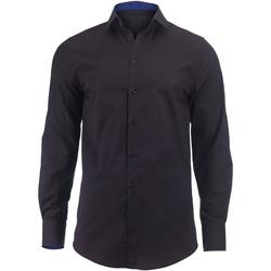 Vêtements Homme Chemises manches longues Alexandra Hospitality Noir/Bleu roi
