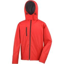 Vêtements Homme Blousons Result Hooded Rouge/Noir