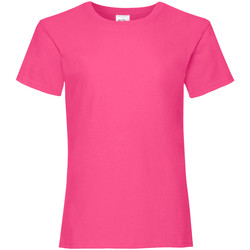 Vêtements Fille T-shirts manches courtes Fruit Of The Loom Valueweight Fuchsia