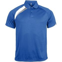 Vêtements Homme Polos manches courtes Kariban Proact Proact Bleu roi/Blanc/Gris