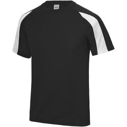 Vêtements Enfant T-shirts manches courtes Just Cool Contrast Noir/Blanc arctique