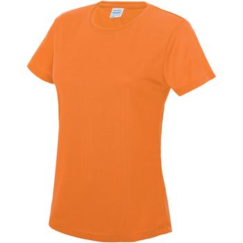 Vêtements Femme T-shirts manches courtes Just Cool JC005 Orange électrique