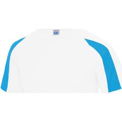 Vêtements Enfant T-shirts manches courtes Just Cool Contrast Blanc arctique/Bleu saphir
