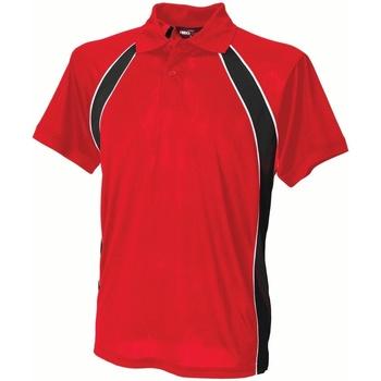 Vêtements Homme Polos manches courtes Finden & Hales Jersey Rouge/Noir/Blanc