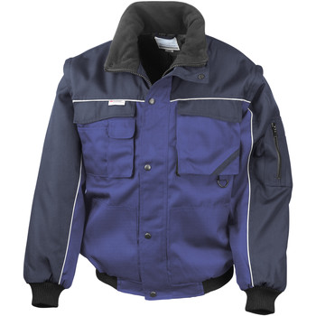 Vêtements Homme Vestes Result Windproof Bleu royal/Bleu marine