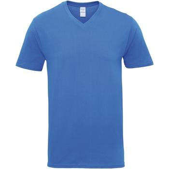 Vêtements Homme T-shirts manches courtes Gildan Premium Bleu roi