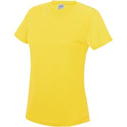 Vêtements Femme T-shirts manches courtes Just Cool JC005 Jaune soleil