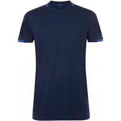 Vêtements Homme T-shirts manches courtes Sols Contrast Bleu marine/Bleu roi