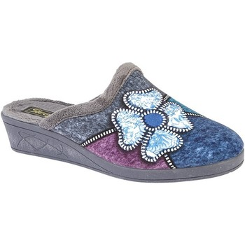 Chaussures Femme Chaussons Sleepers Flower Gris/ Violet/ Bleu/ Gris