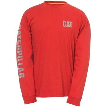 Vêtements Homme T-shirts manches longues Caterpillar  Rouge