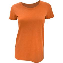 Vêtements Femme T-shirts manches courtes Bella + Canvas Triblend Orange