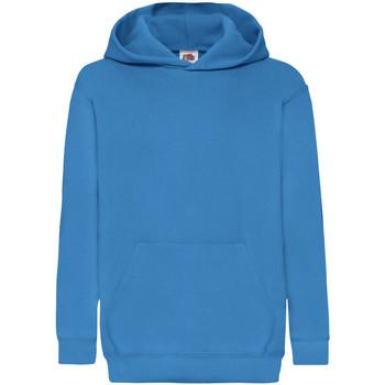 Vêtements Enfant Sweats Fruit Of The Loom 62043 Bleu azur