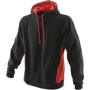 Vêtements Homme Sweats Finden & Hales Hooded Noir/Rouge