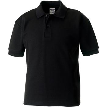 Vêtements Garçon Polos manches courtes Jerzees Schoolgear 65/35 Noir
