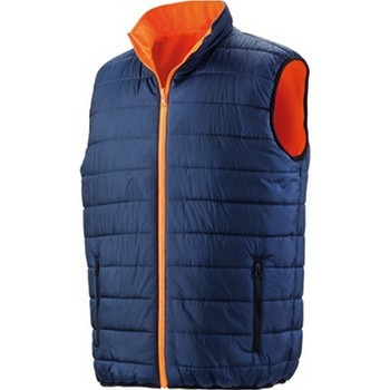Vêtements Homme Doudounes Result Safety Orange fluo / bleu marine