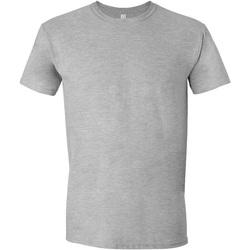Vêtements Homme T-shirts manches courtes Gildan Soft-Style Gris clair
