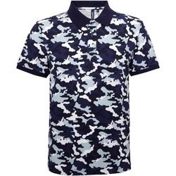 Vêtements Homme Polos manches courtes Toutes les chaussures femme Camo Bleu camouflage