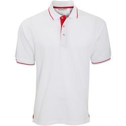 Vêtements Homme Polos manches courtes Kustom Kit KK606 Blanc/Rouge vif