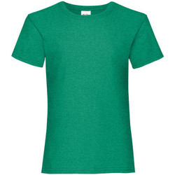 Vêtements Fille T-shirts manches courtes Fruit Of The Loom Valueweight Vert tendre