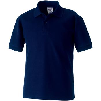 Vêtements Garçon Polos manches courtes Jerzees Schoolgear 65/35 Bleu marine