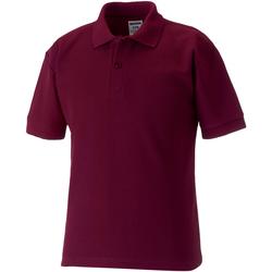 Vêtements Garçon Polos manches courtes Jerzees Schoolgear Pique Bordeaux