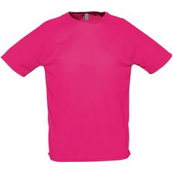 Vêtements Homme T-shirts manches courtes Sols Performance Rose néon