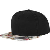 Accessoires textile Casquettes Yupoong YP003 Noir/Floral menthe