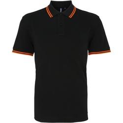 Vêtements Homme Polos manches courtes Asquith & Fox Classics Noir/orange