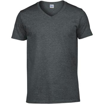 Vêtements Homme T-shirts manches courtes Gildan Soft Style Gris sombre