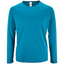 Vêtements Homme T-shirts manches longues Sols Performance Bleu ciel
