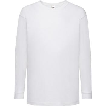 Vêtements Enfant T-shirts manches longues Fruit Of The Loom 61007 Blanc