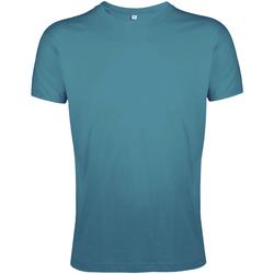 Vêtements Homme T-shirts manches courtes Sols Slim Fit Bleu turquoise
