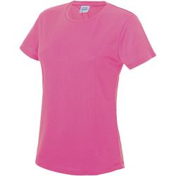 Vêtements Femme T-shirts manches courtes Just Cool JC005 Rose électrique