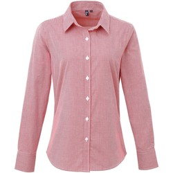 Vêtements Femme Chemises / Chemisiers Premier PR320 Rouge/Blanc