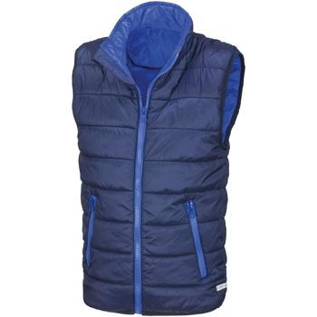Vêtements Enfant Doudounes Result R234JY Bleu marine/Bleu roi