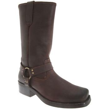Chaussures Homme Bottes ville Woodland Harley Marron foncé